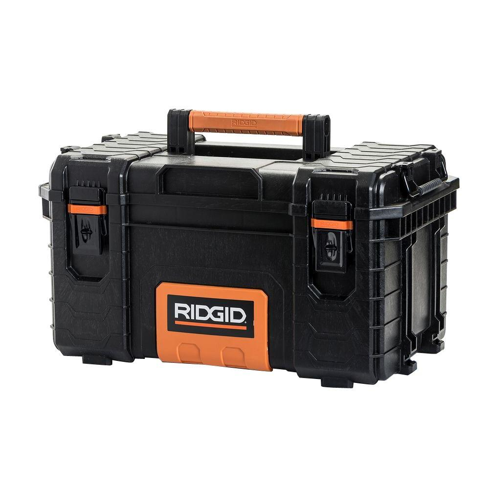 RIDGID 22 in. Pro Tool Box, Black