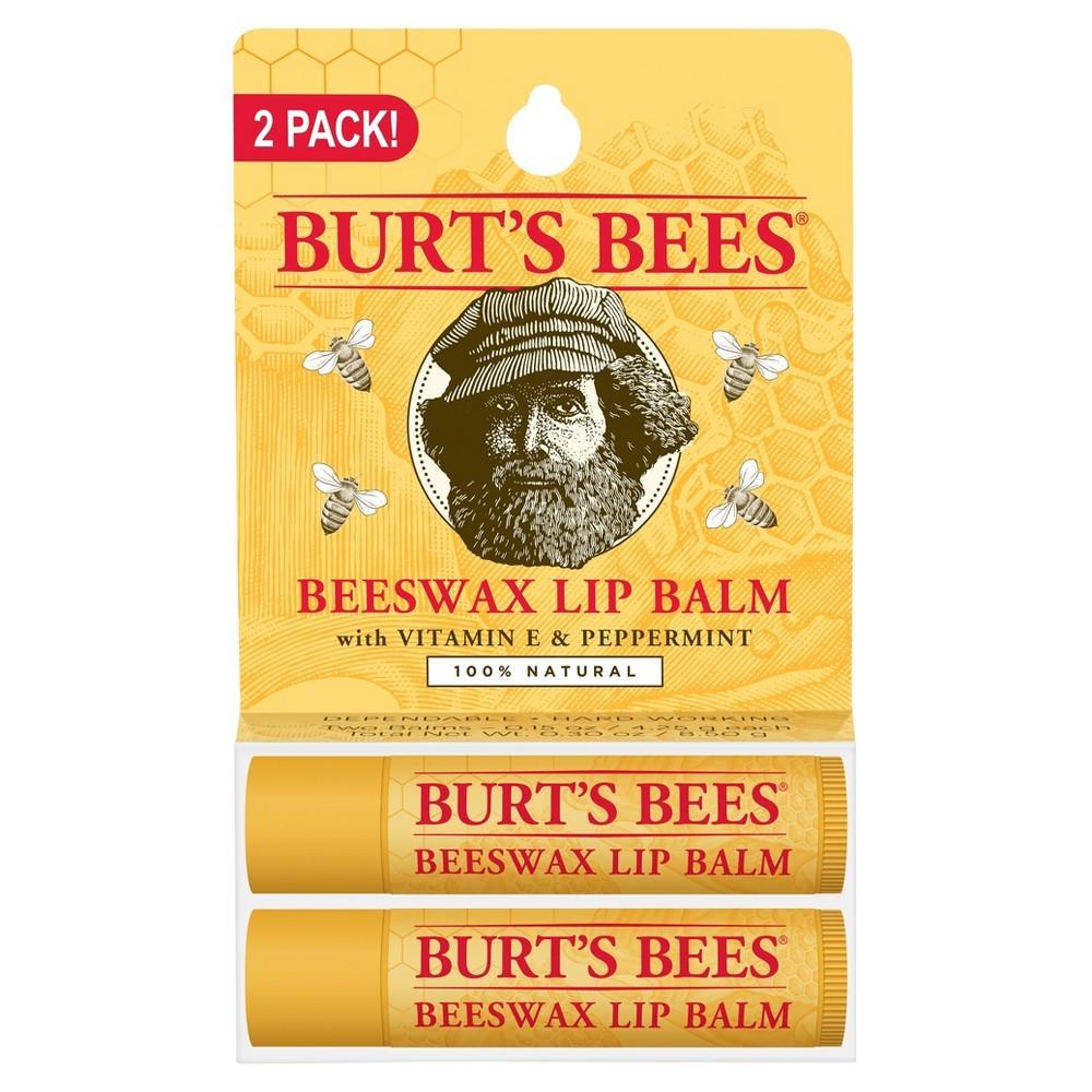 Burt's Bees Lip Balm Beeswax 2 ct