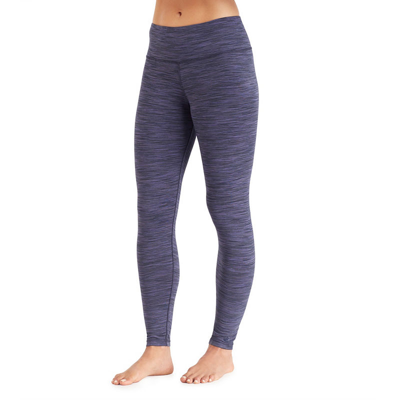 Cuddl Duds Flexfit Thermal Leggings, Womens, Navy, Small