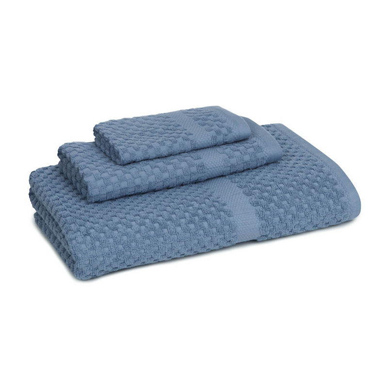 Honeycomb 3-pc. Bath Towel Set, Blue