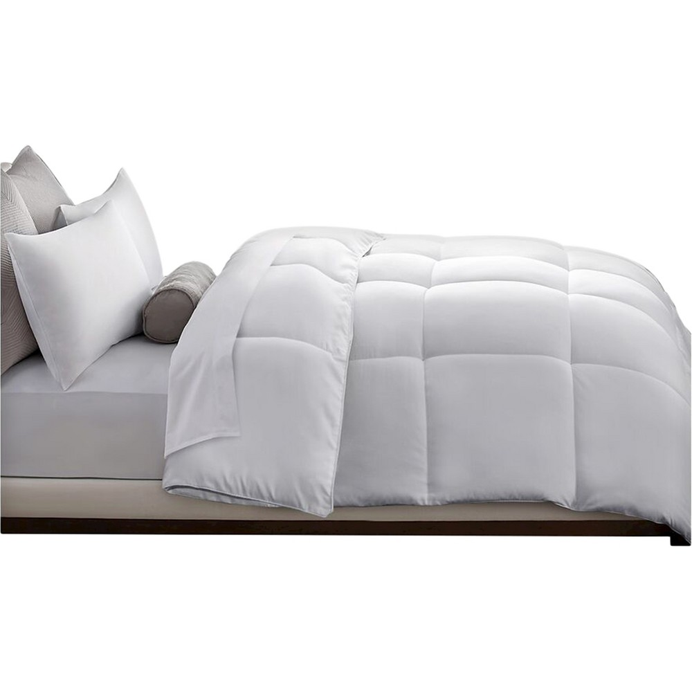 Microfiber Down Alternative Comforter (Twin) White