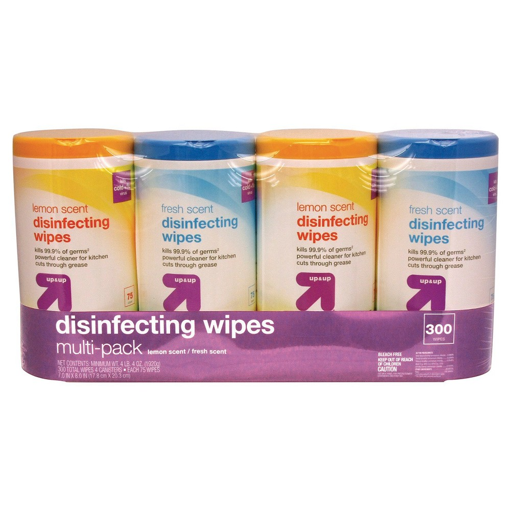 Disinfecting Wipes, Lemon and Fresh Scent, 75 ct, 4 pack - Up&Up