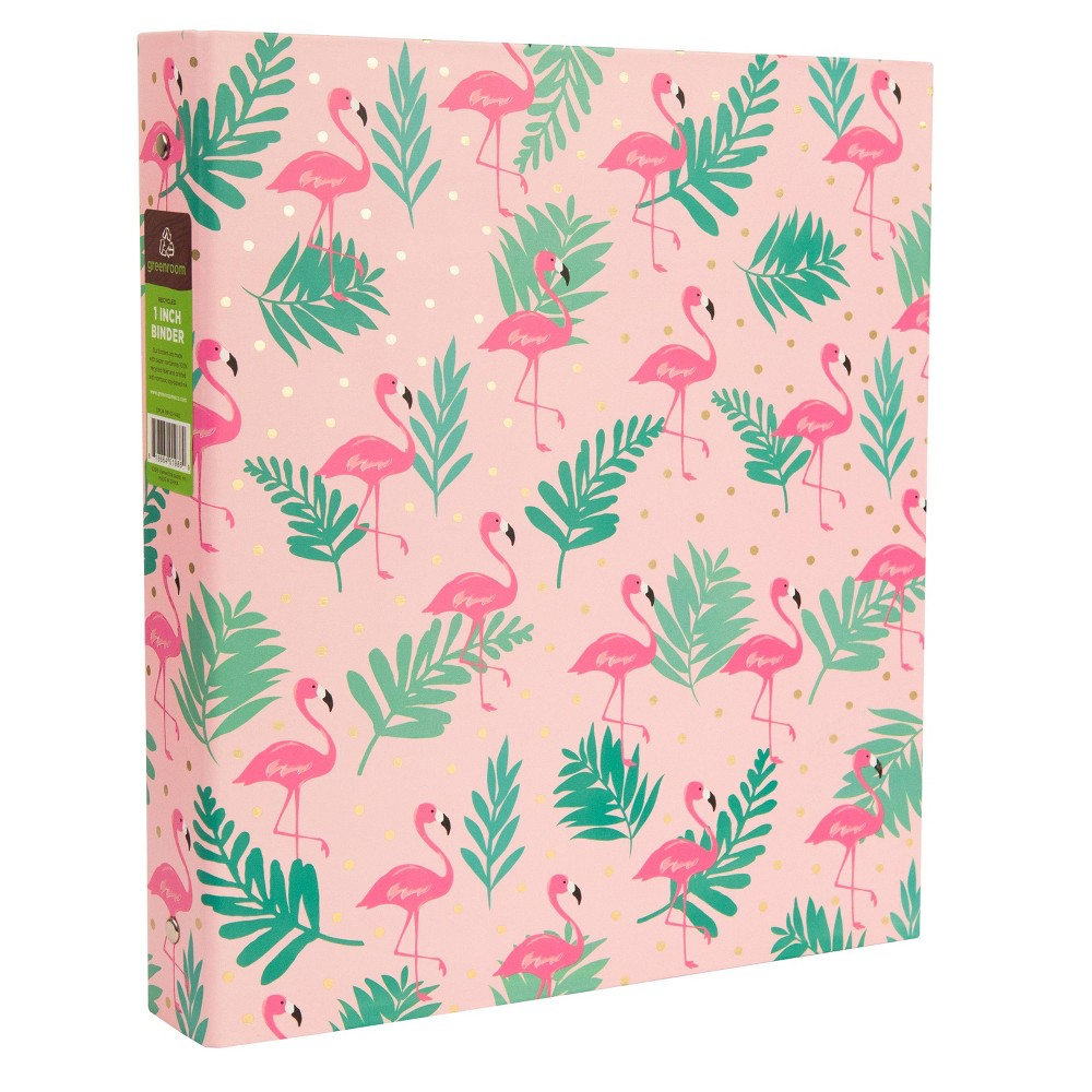 175 Sheet 1 Ring Binder Flamingos Pink - Greenroom, Multi-Colored