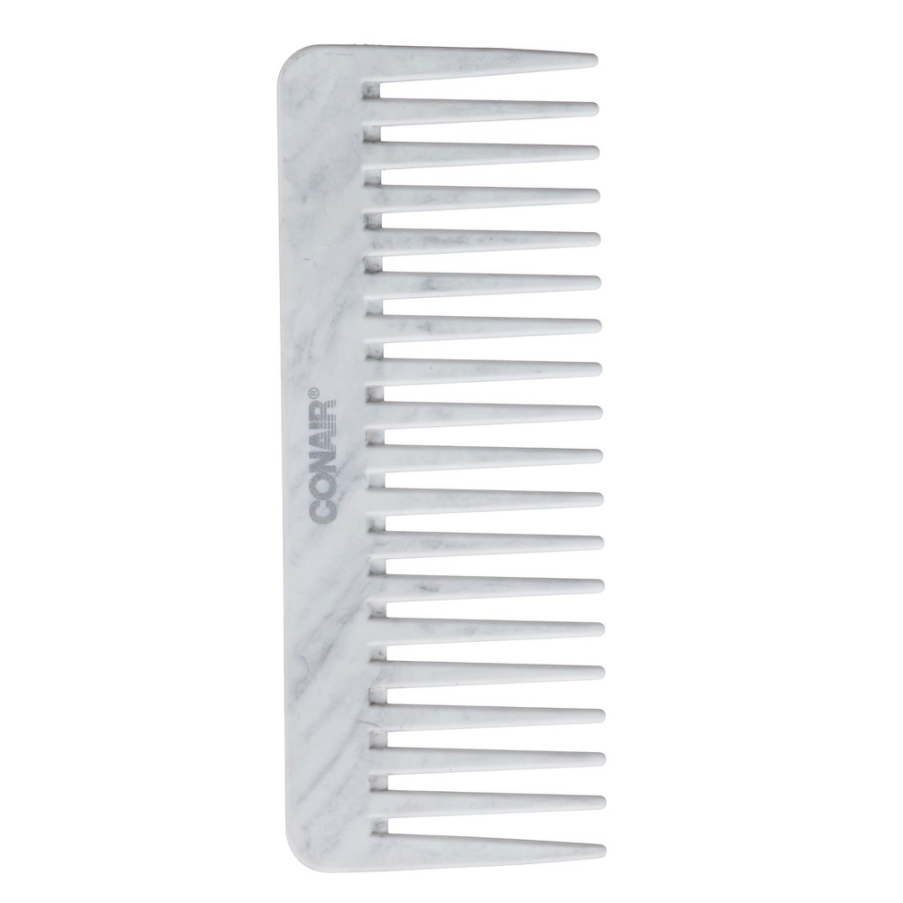 Conair Cararra Marble Detangle Comb, Black
