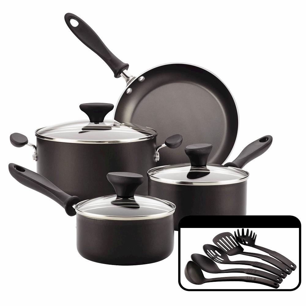 Farberware Reliance 12pc Nonstick Cookware Set Black