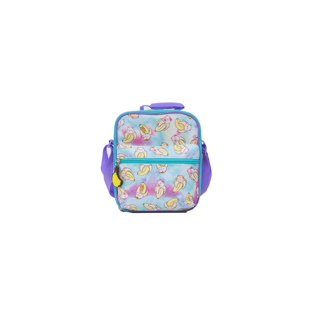 Bananya Lunch Box - Blue/Purple, Multi-Colored