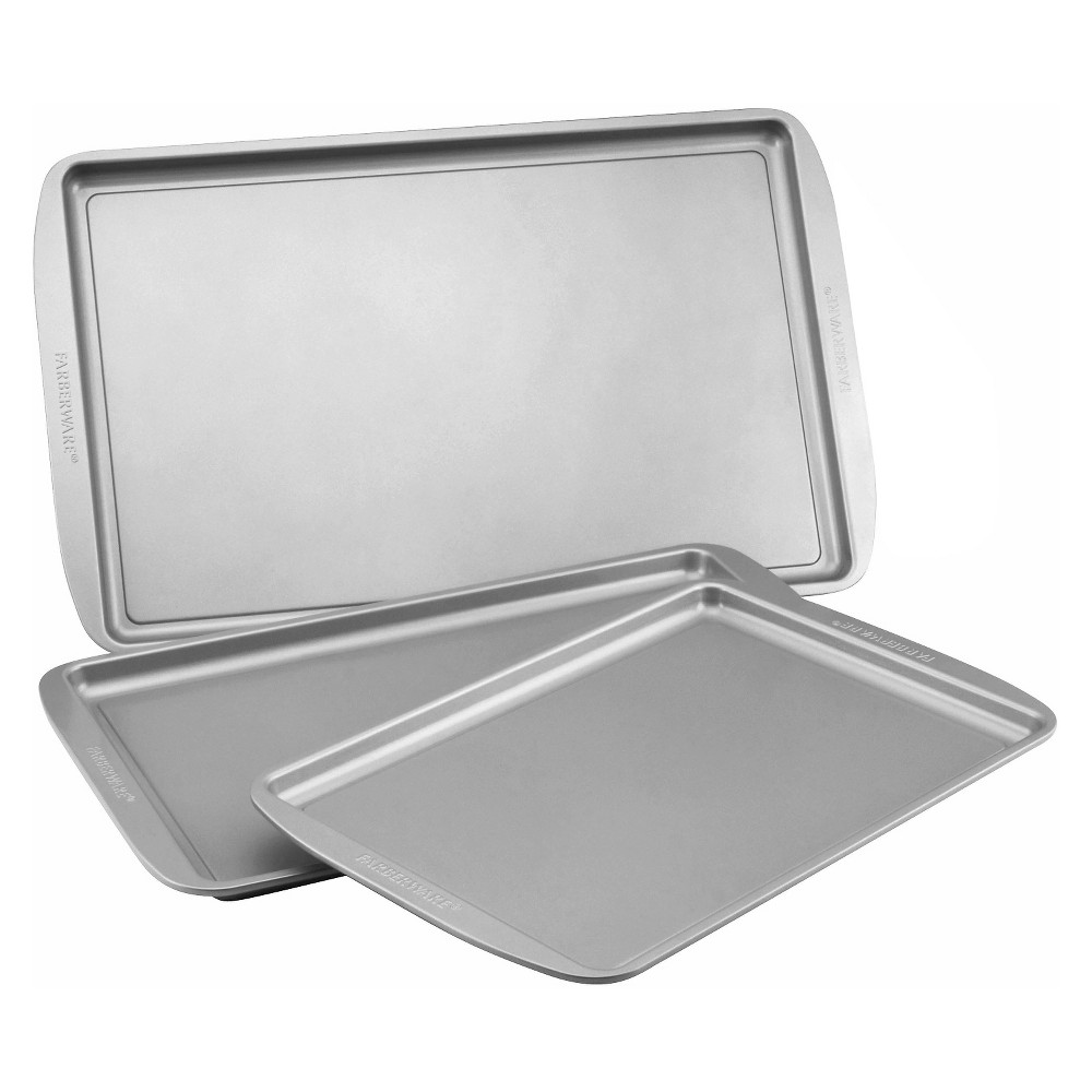 Farberware 3Pc Cookie Pan Set - Gray