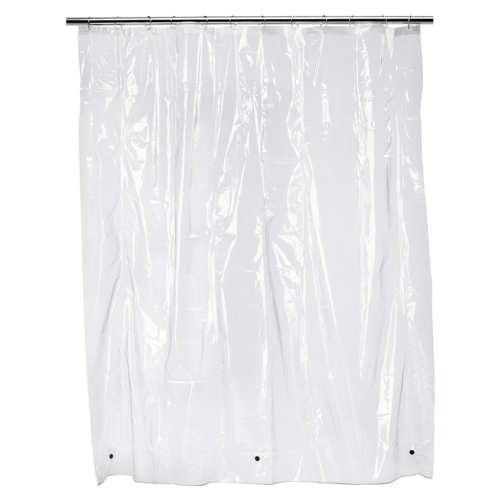 Solid Super Soft Vinyl Shower Liner Clear - Room Essentials