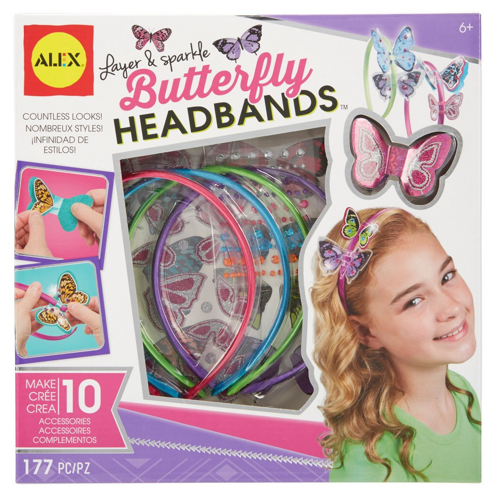 Alex Toys Do-it-Yourself Wear Layer and Sparkle Butterfly Headbands, Girl's