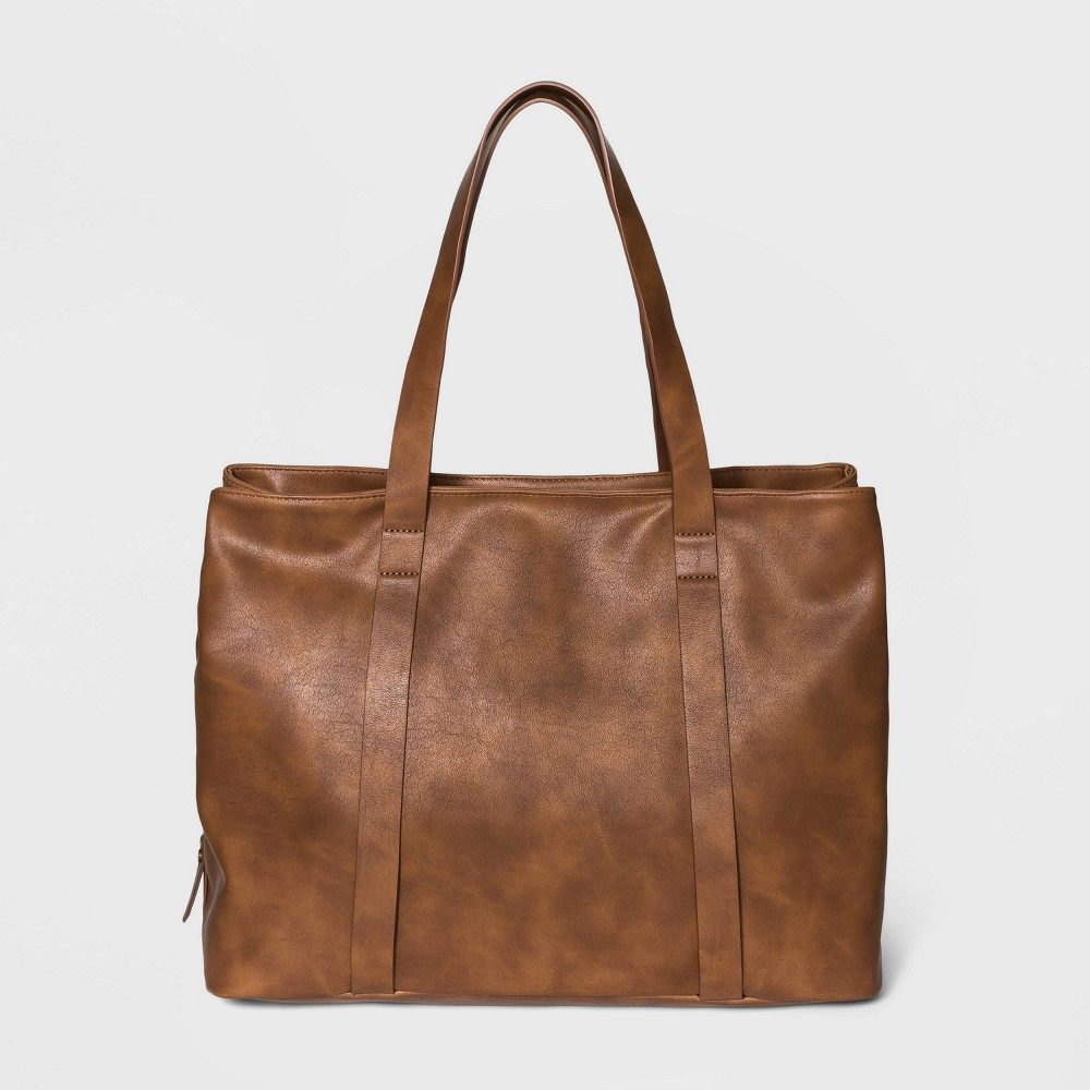 Triple Compartment Tote Handbag - Universal Thread Brown