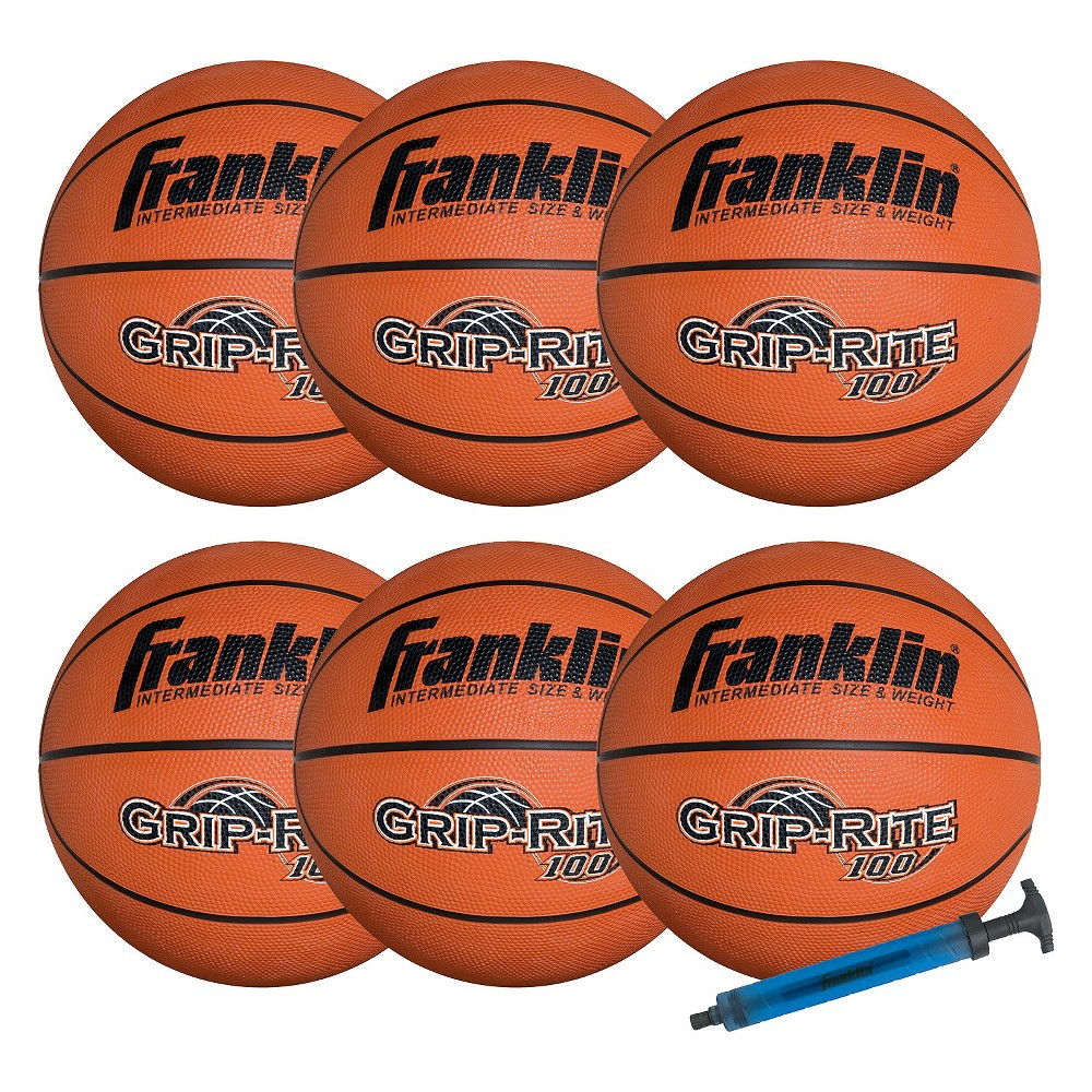Franklin Sports Official Grip-Rite 100 Team Pack with Pump, Orange