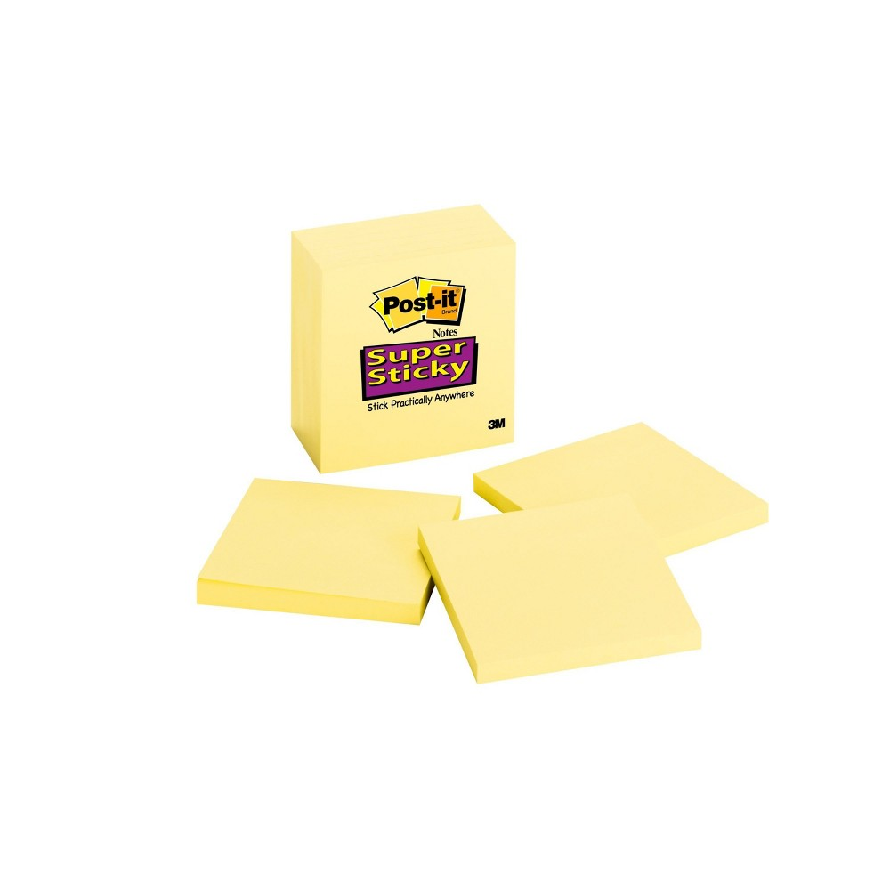 Post-it Sticky Notes 3in x 3in, Light Yellow