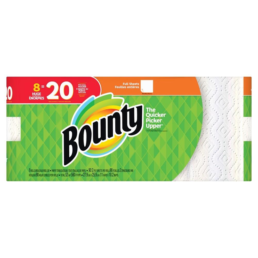 Bounty Full Sheet Paper Towels - 8 Huge Rolls