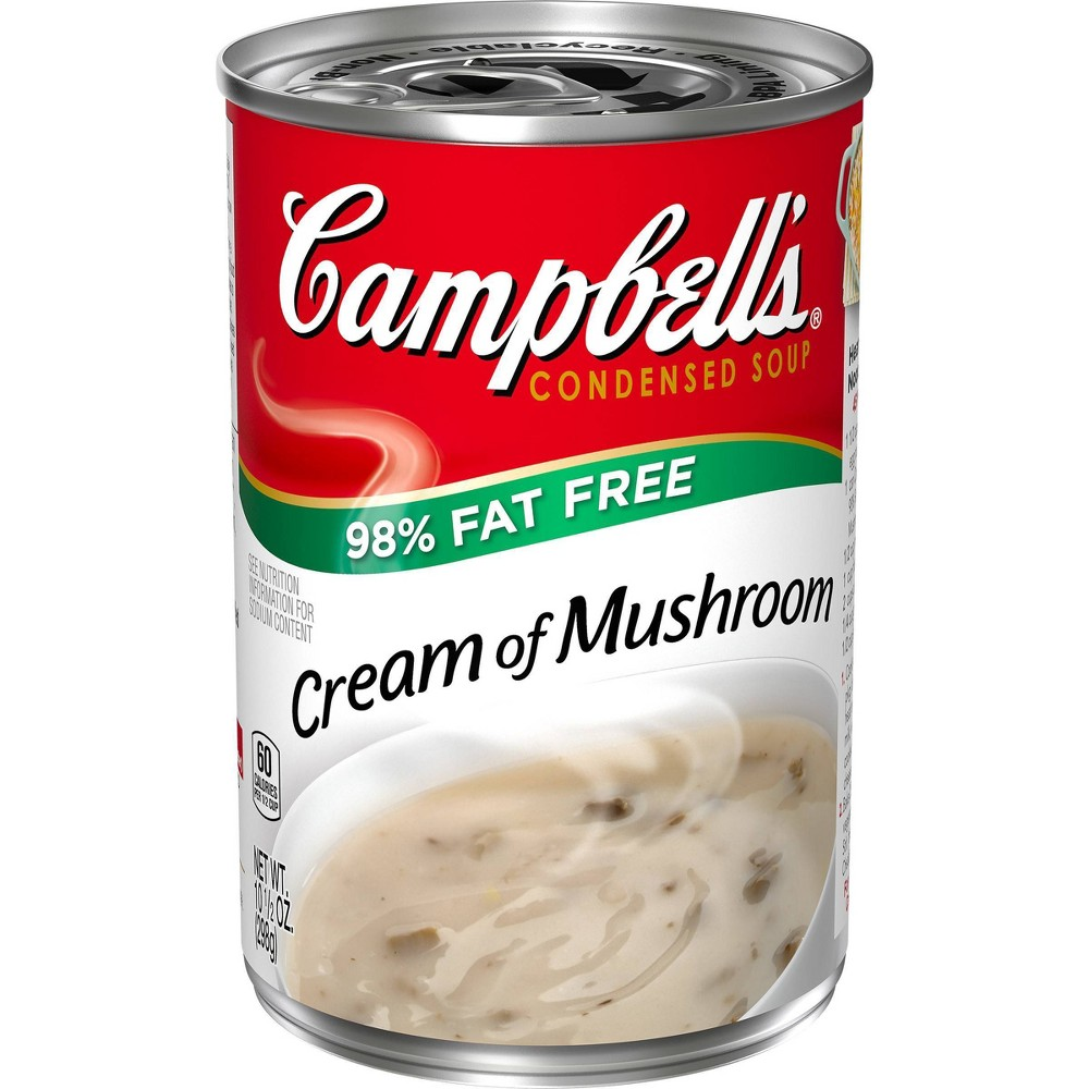 Campbell's Low Fat Condensed Cream of Mushroom Soup 10.5oz