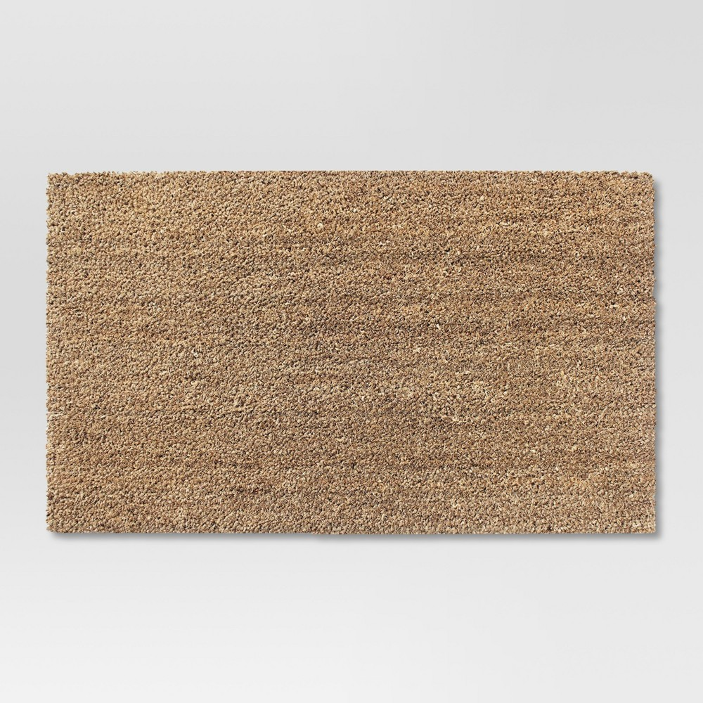 "1'6""x2'6"" Solid Doormat Beige - Room Essentials"