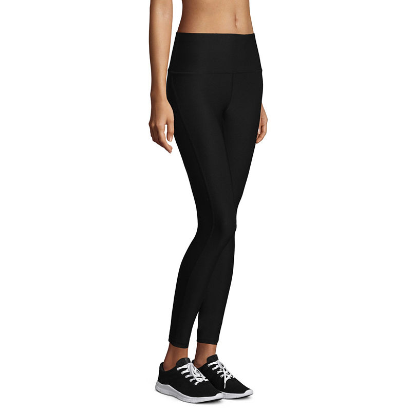 Xersion High Rise 7/8 Basic Leggings, Womens, Black Solid, Size Small