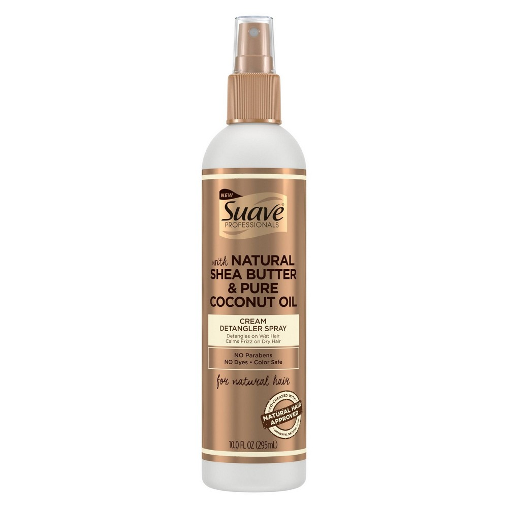 Suave Professionals Natural Shea Butter & Pure Coconut Oil Cream Detangler Spray - 10 fl oz