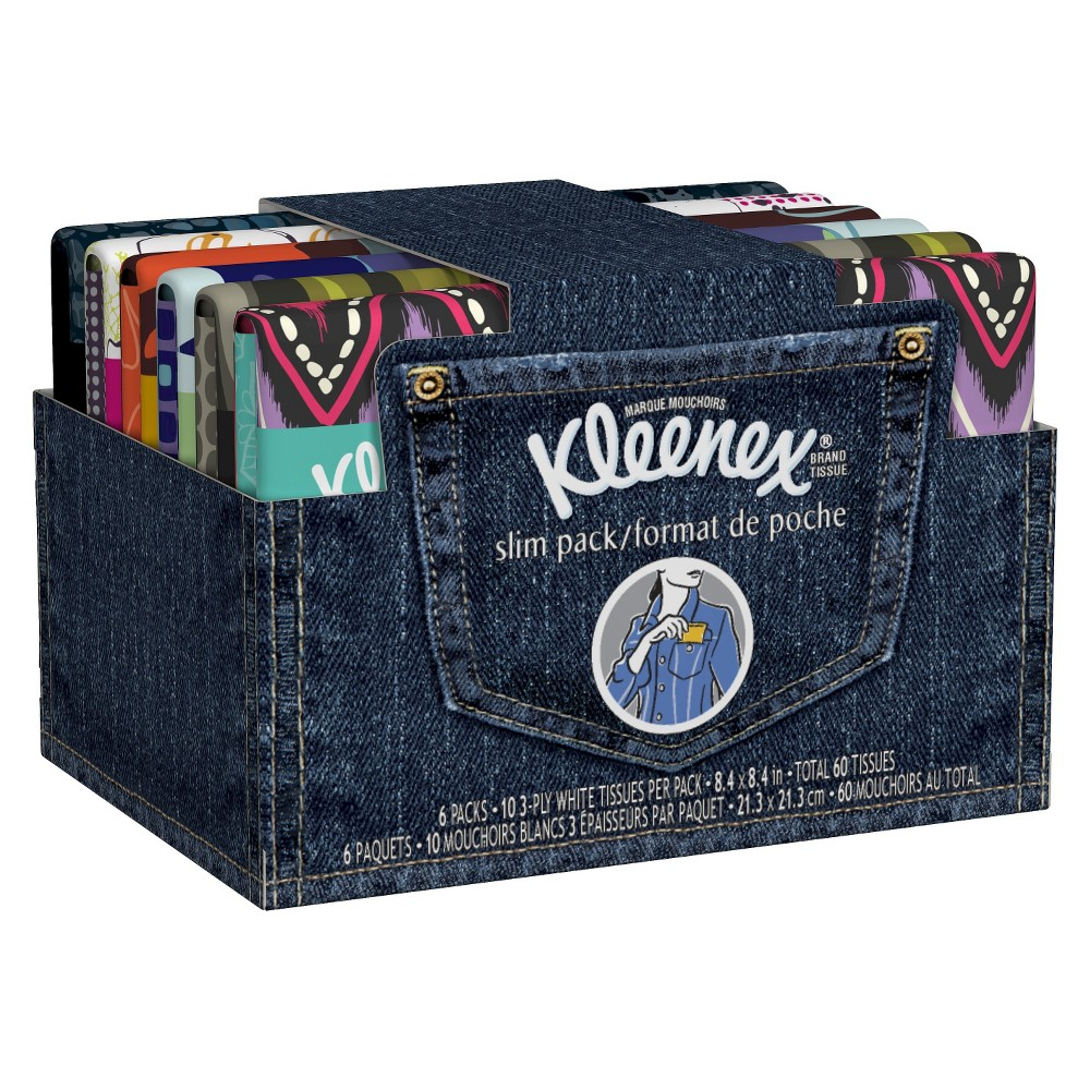 Kleenex Slim Pack Facial Tissue - 6pk/10ct