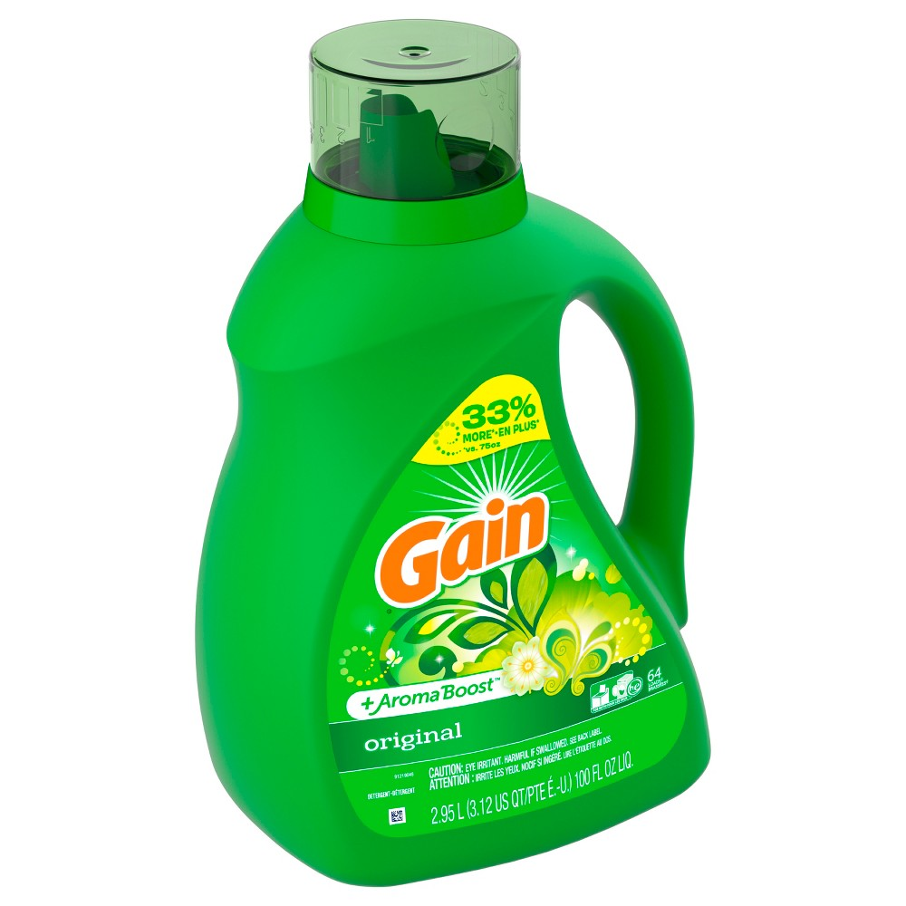 Gain Original + Aroma Boost Liquid Laundry Detergent - 100 fl oz