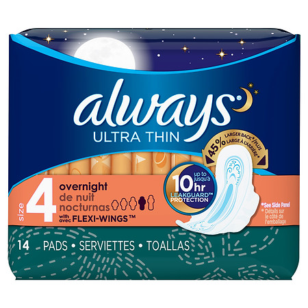 Always Ultra Thin Pads Unscented - 14 ea
