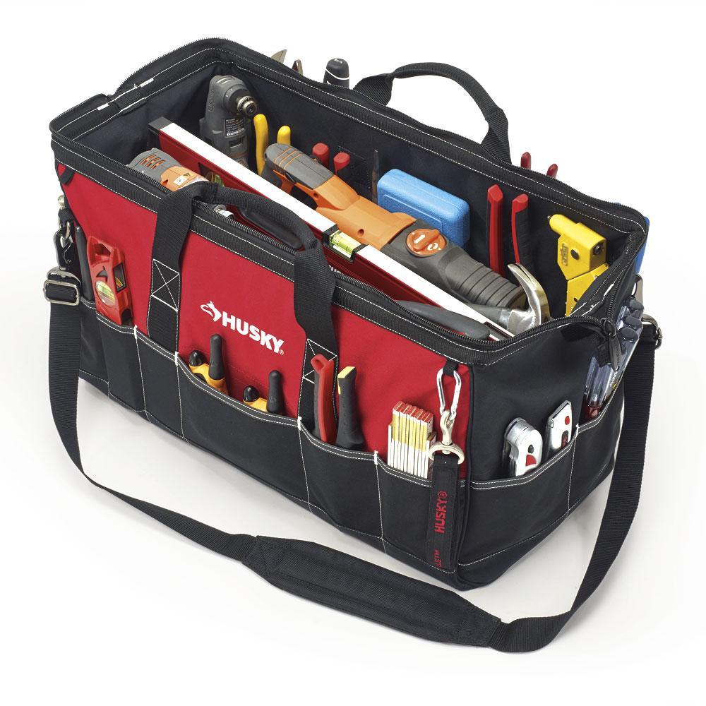 Husky 24 in. Tool Bag, Red
