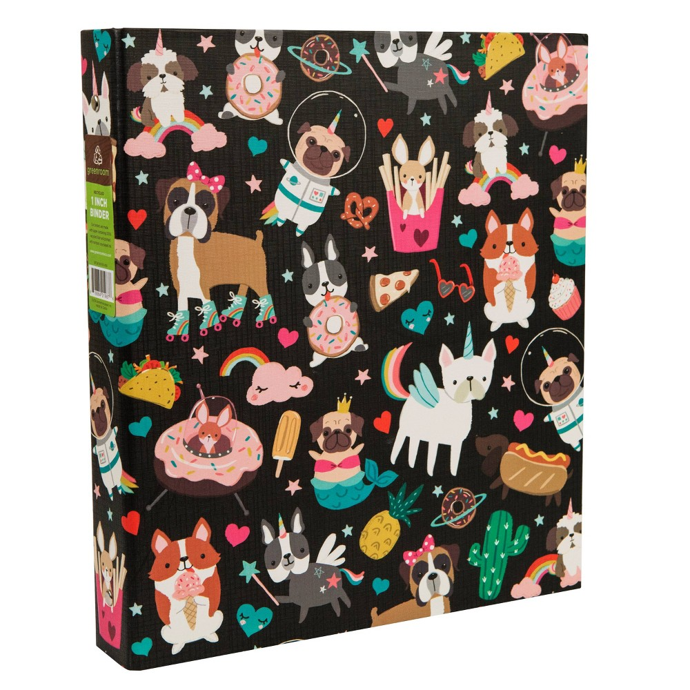 175 Sheet 1 Ring Binder Space Animals Black - Greenroom, Multi-Colored