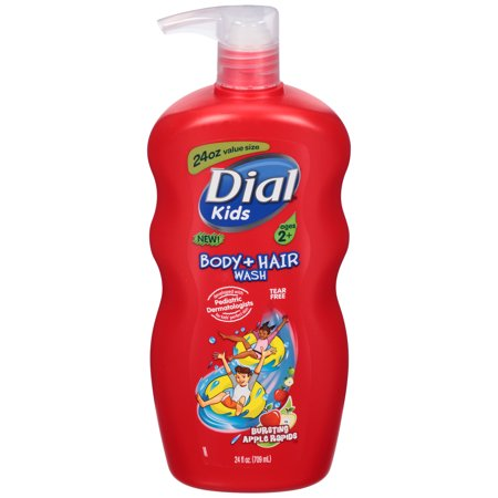 Dial Kids Body + Hair Wash, Bursting Apple Rapids, 12 Ounce