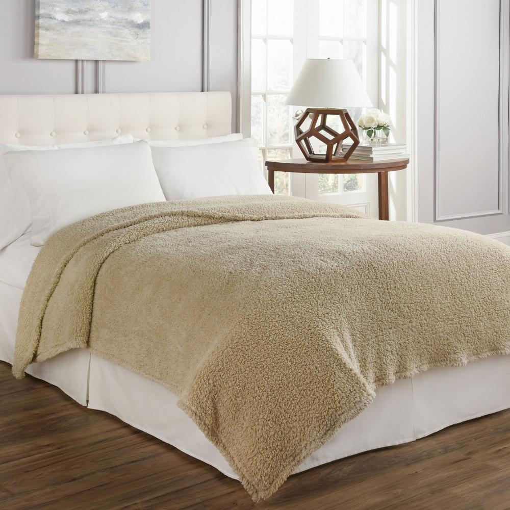Cosette Ultra Soft Blanket (Twin) Cream (Ivory) - Beautyrest