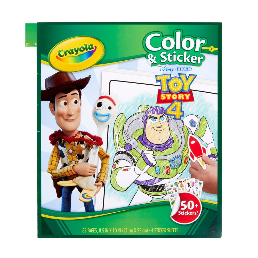 Crayola 32pg Toy Story 4 Color & Sticker Book