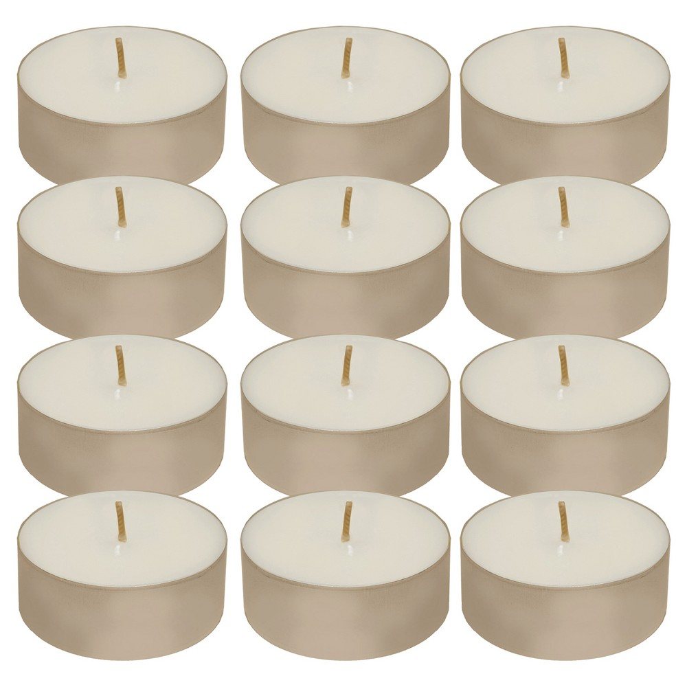 12ct Tea Light Candle White - Lumabase