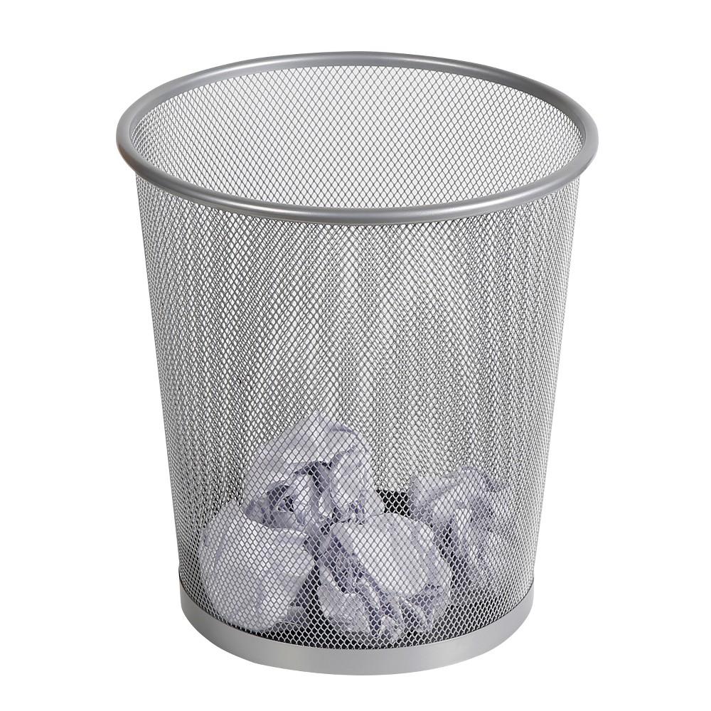 Mesh Waste Basket Silver - Made By Design, Medium Silver