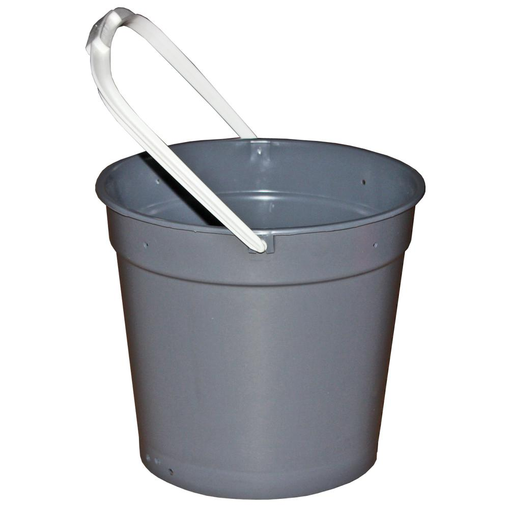 Ti-Dee American 12 Qt. Gray Heavy Duty Round Utility Mop Bucket