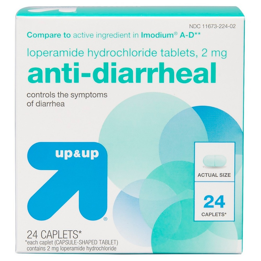 Anti-Diarrheal Loperamide Caplets - 24ct - Up&Up (Compare to active ingredient in Imodium A-D)