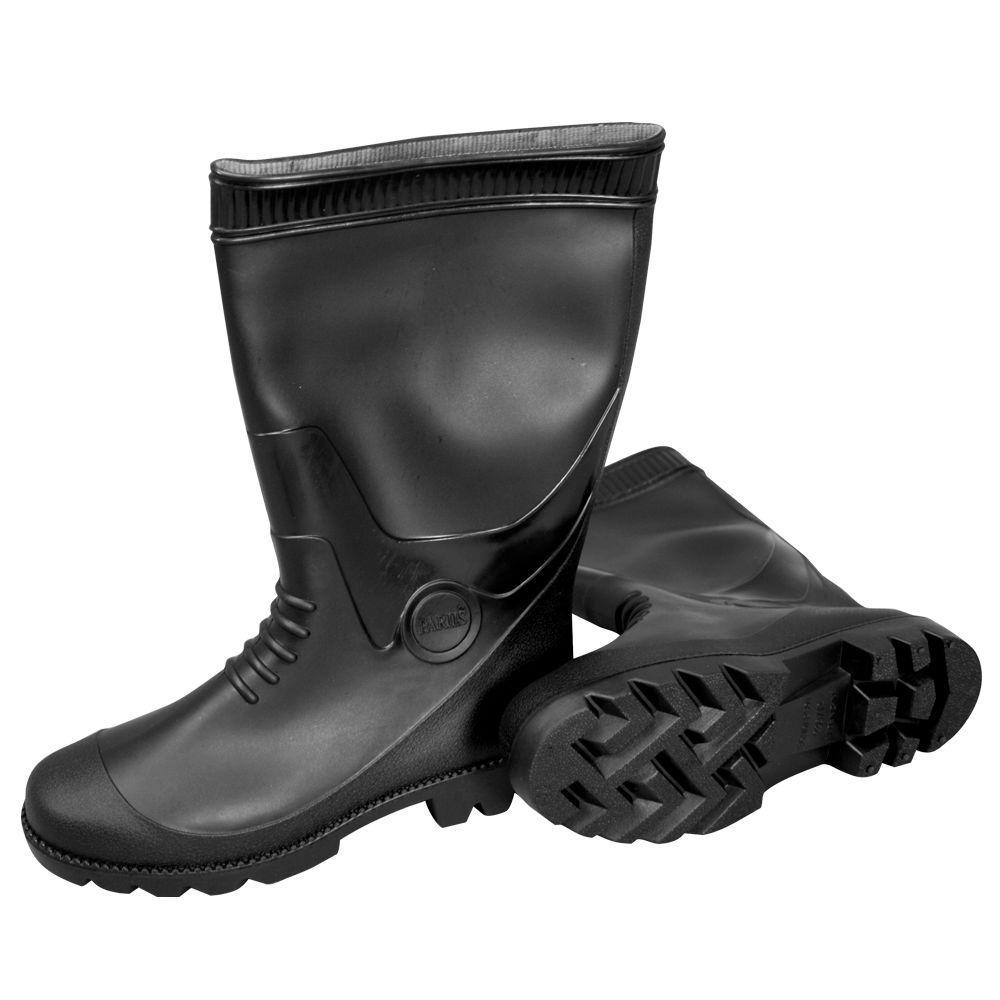 MAT Size 10 PVC Black Boots