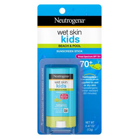 Neutrogena Wet Skin Kids Sunscreen Stick, SPF 70 - 0.47 oz.