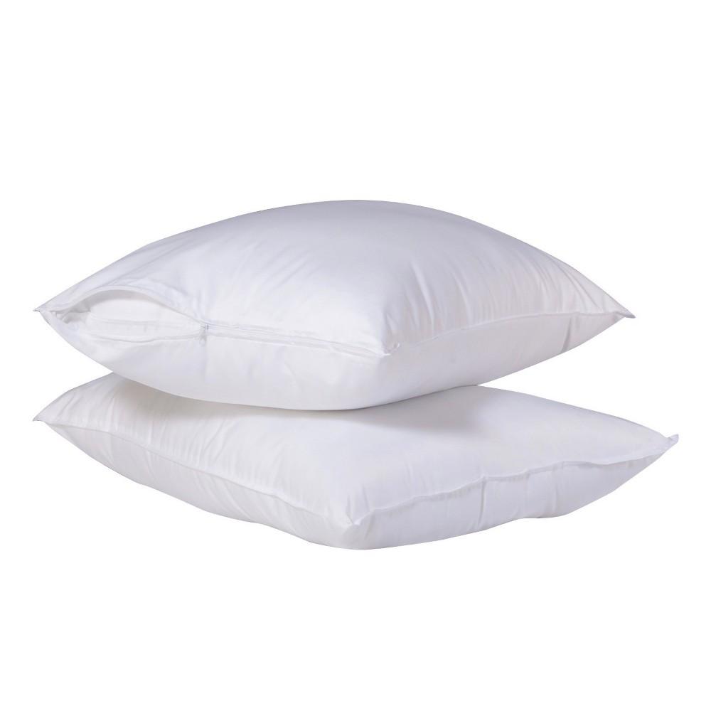 SlumberTech MicronOne Allergen Barrier Cover Standard Pillow Protector 2 pk, White