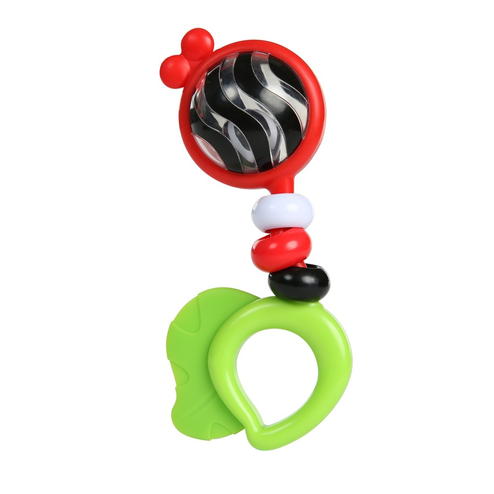 Baby Einstein Bright Bold Rattle & Teether High Contrast Toy