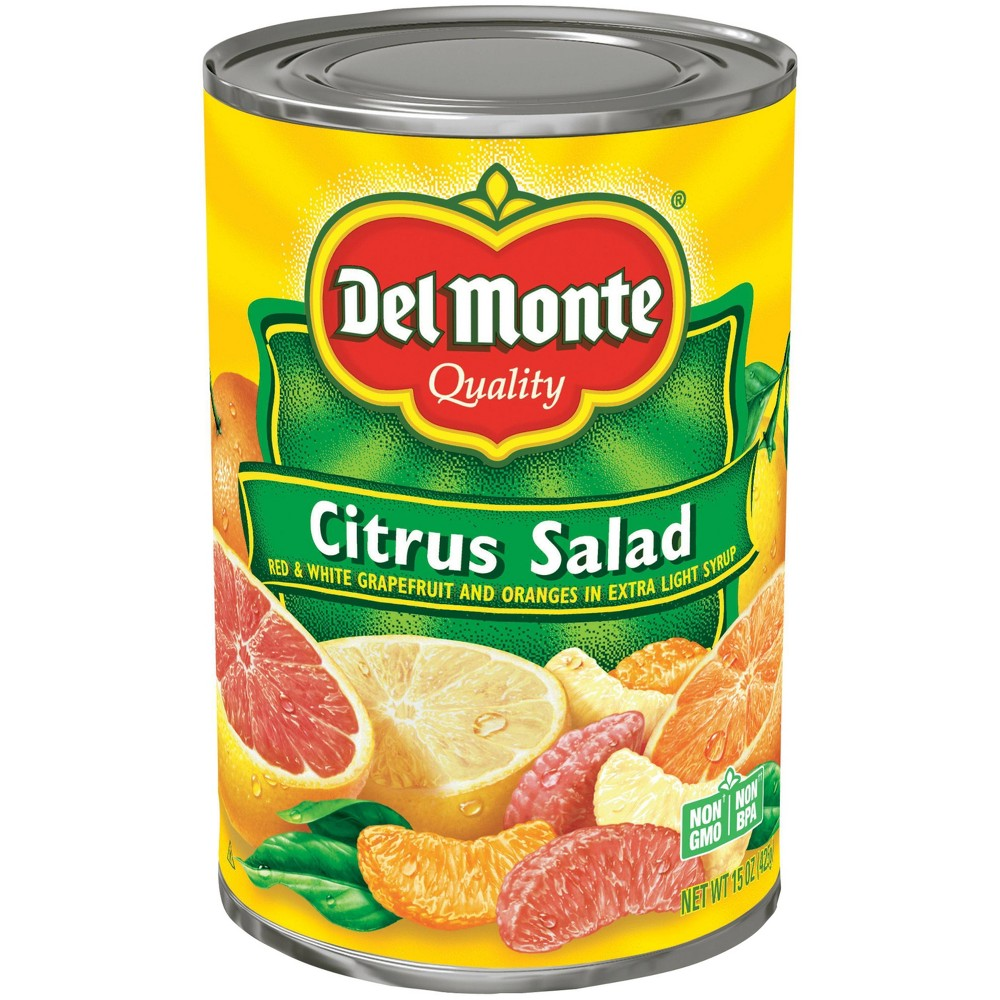 Del Monte Citrus Salad with Red & White Grapefruit Sections in Light Syrup 15 oz