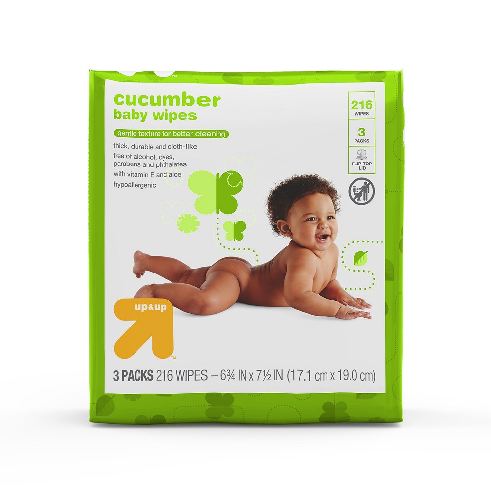 Cucumber Baby Wipes, 216ct - Up&Up