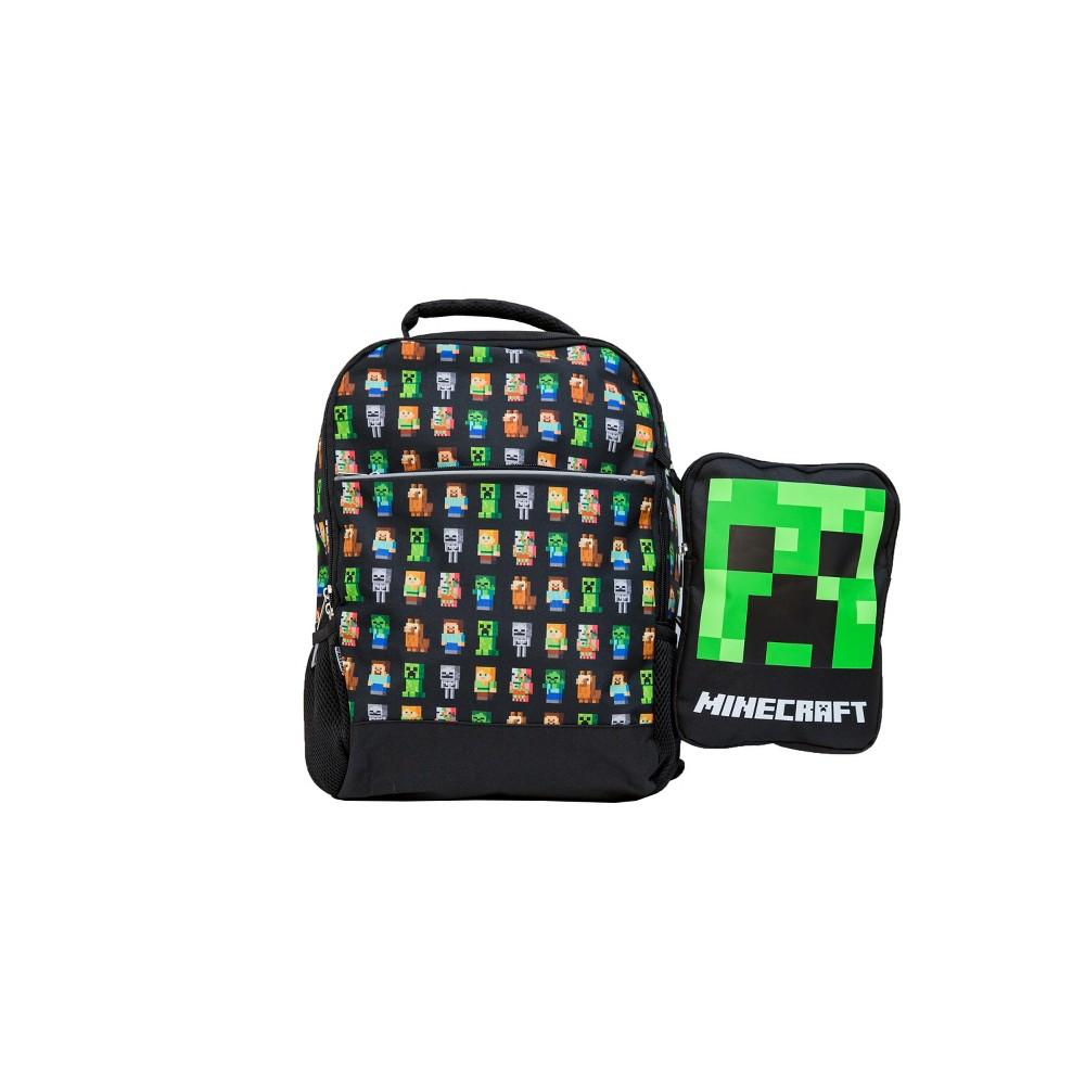 Minecraft Kids' Backpack - Black, Multi-Colored