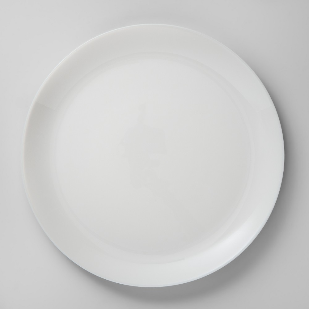 Glass Dinner Plate 10.7 White - Made By Design