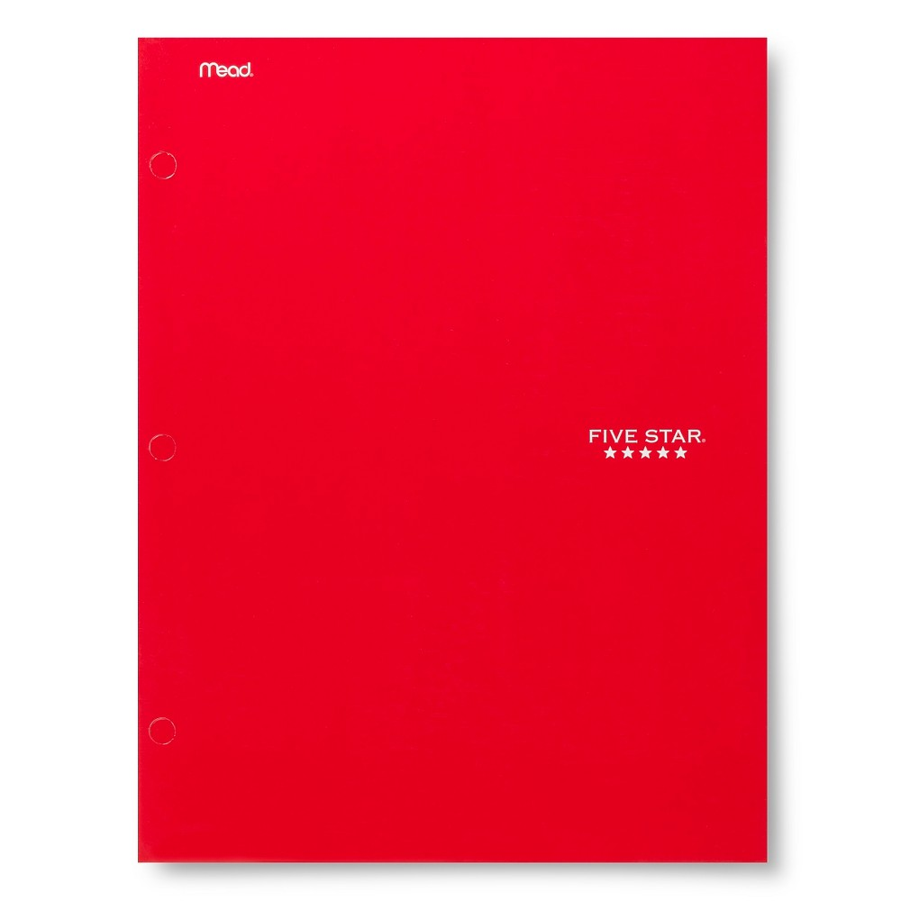 Five Star 4 Pocket Paper Folder Red