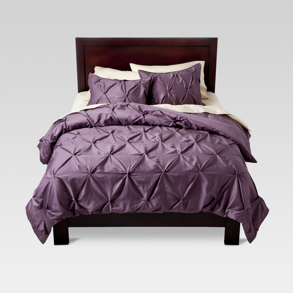 Lavender (Purple) Pinched Pleat Comforter Set (King) 3pc - Threshold