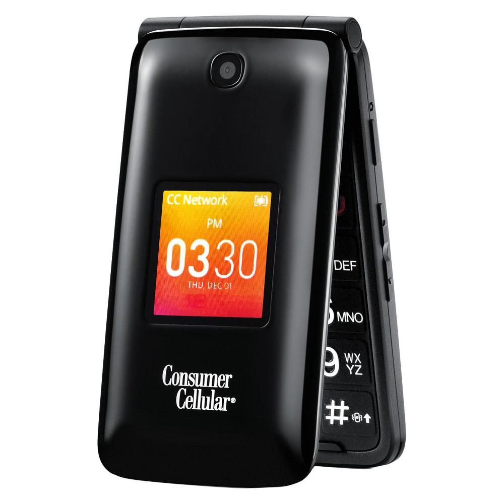 Consumer Cellular Alcatel Go Flip, Black
