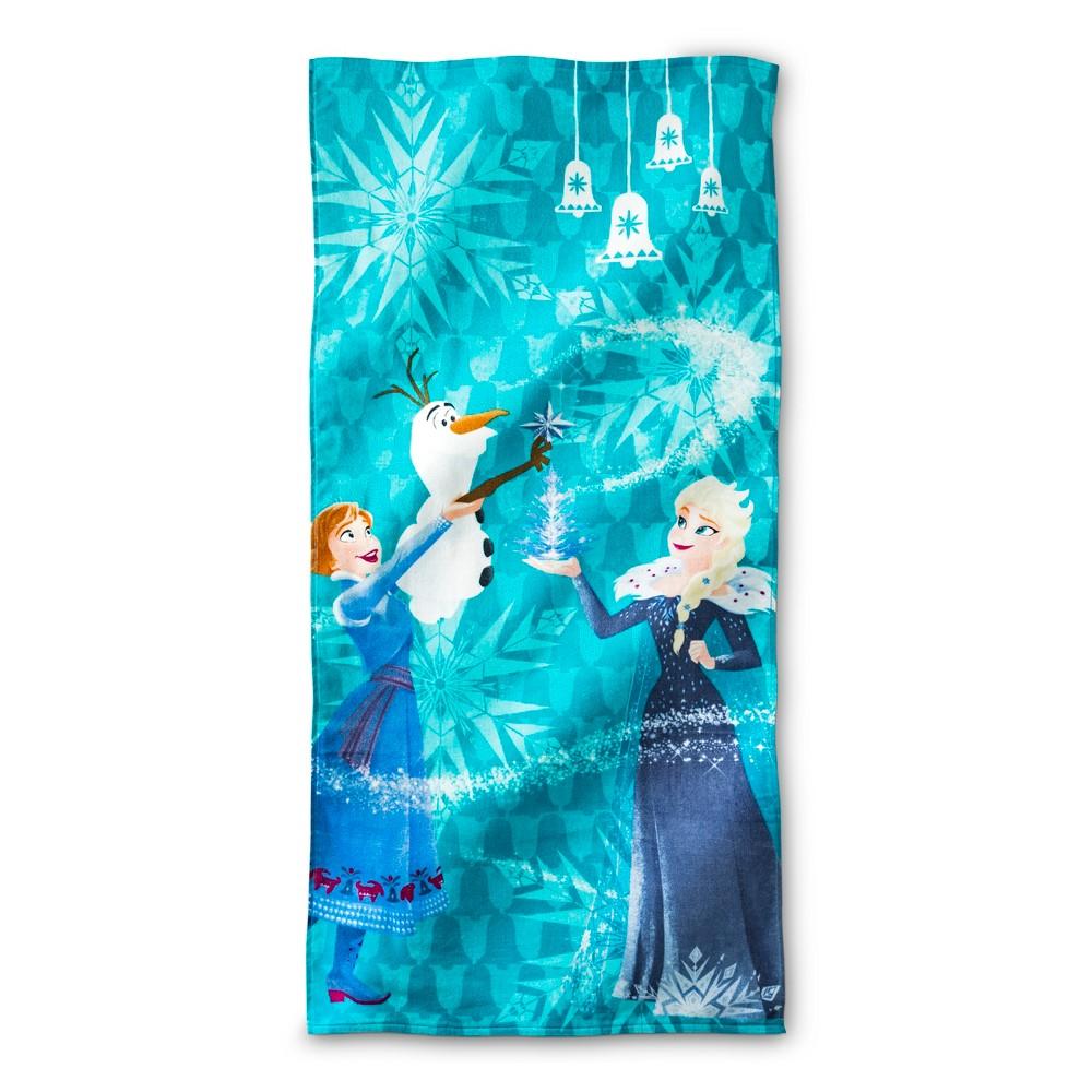 Frozen Snowy Hill Beach Towel Light Blue - Frozen