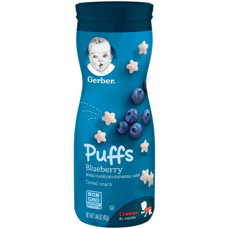 Gerber Puffs Bluberry, 1.48 oz. Canister