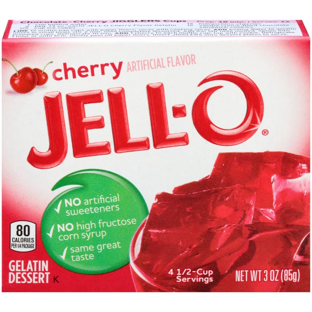 Jell-O Cherry Gelatin - 3oz