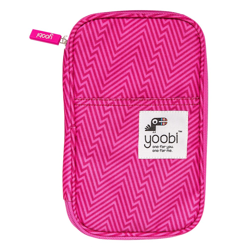 Yoobi Pencil Case - Pink Ziggy