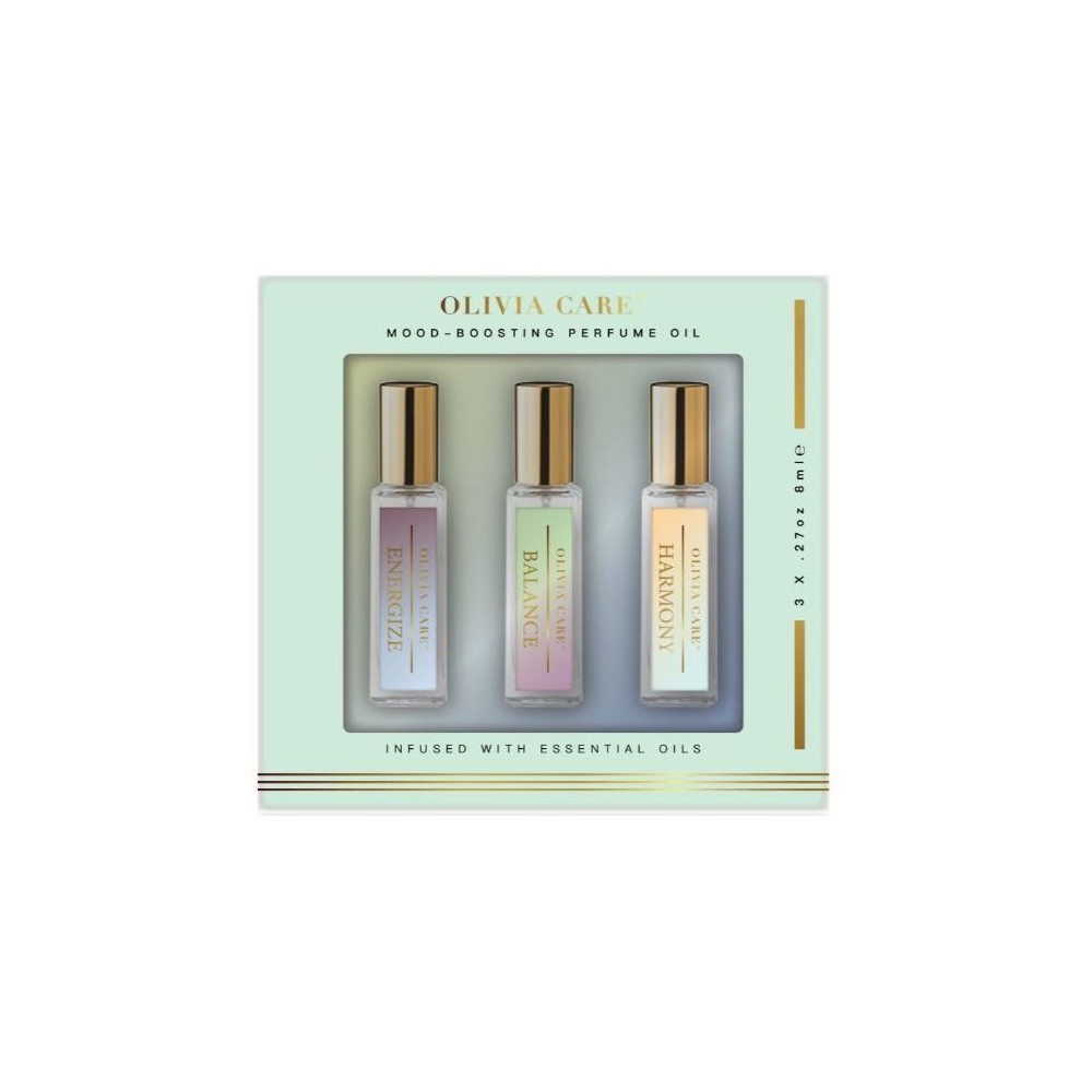 Women's Olivia Care Mood Boosting Fragrance Oil 3pc Gift Set