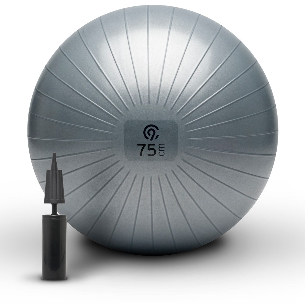 C9 Champion Exercise Ball with Pump in Gray (75cm)